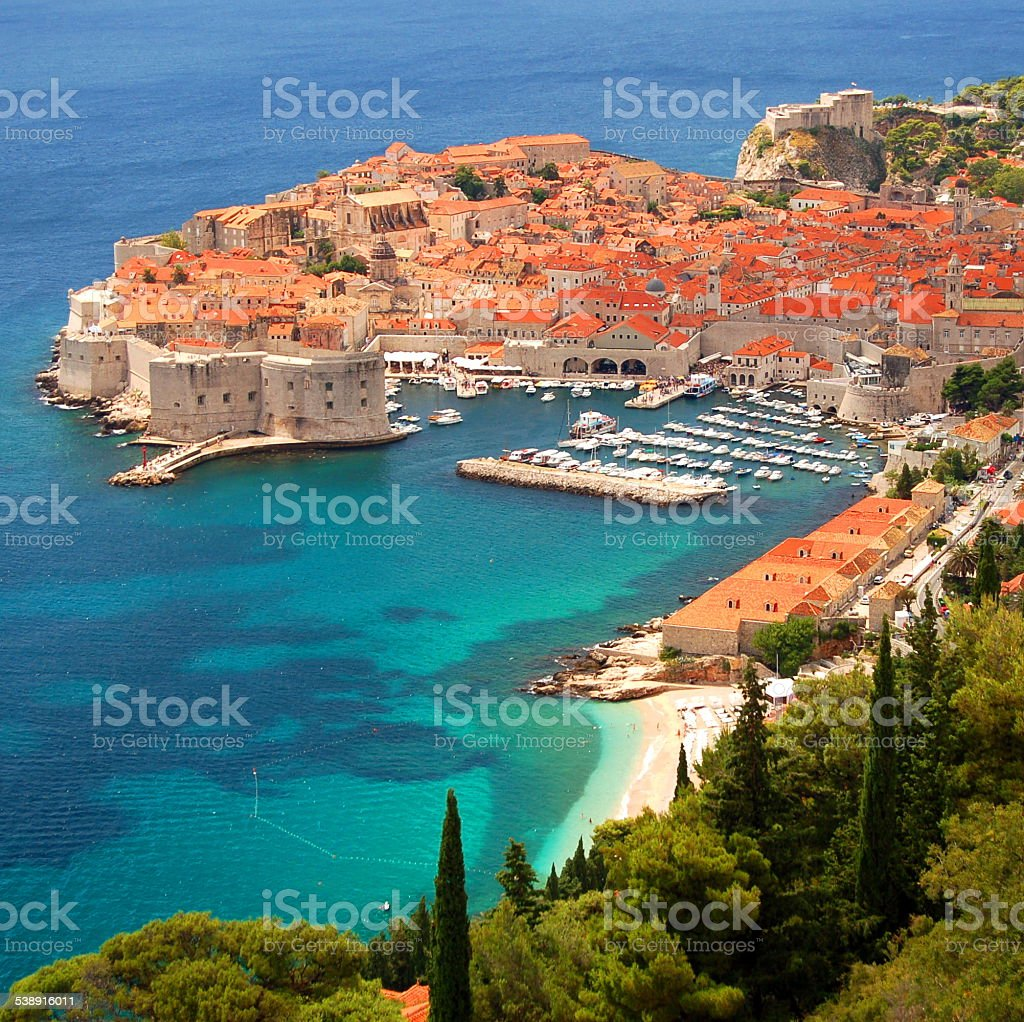 picturesque gorgeous view on the old town of Dubrovnik, Croatia stock photo