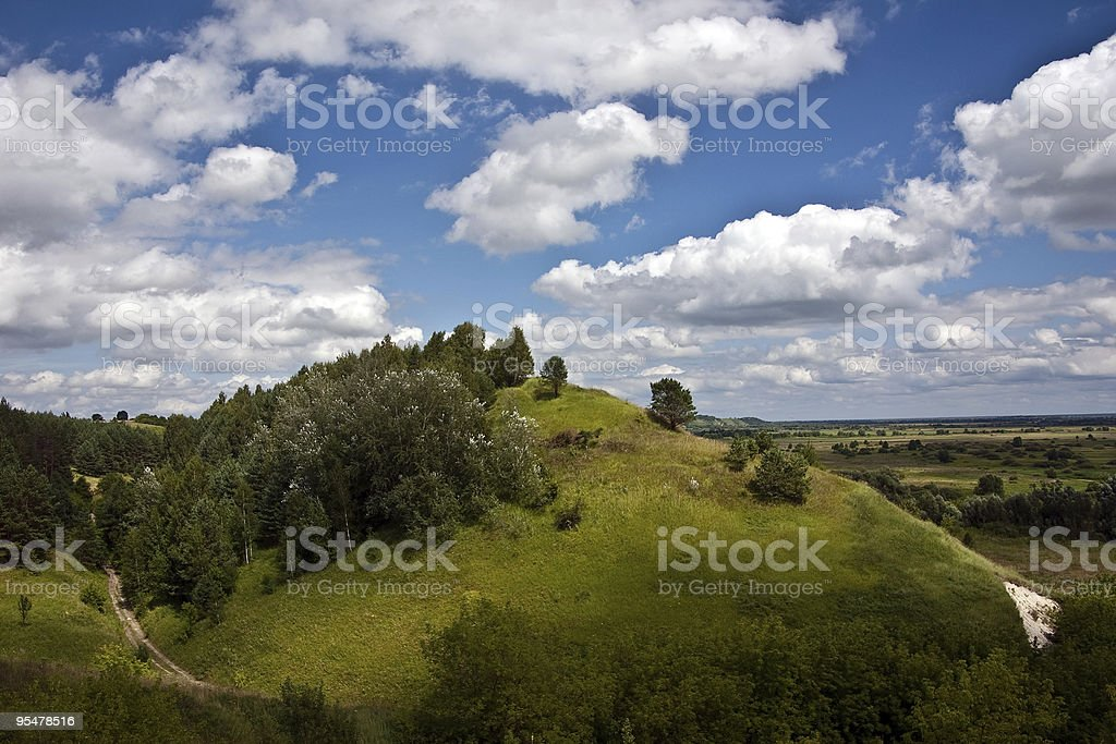 Picturesque hill royalty-free stock photo