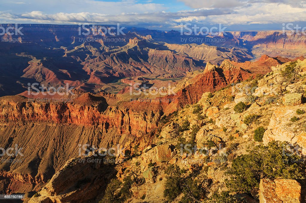 Picturesque Landscape from Grand Canyon South Rim, Arizona, US stock photo