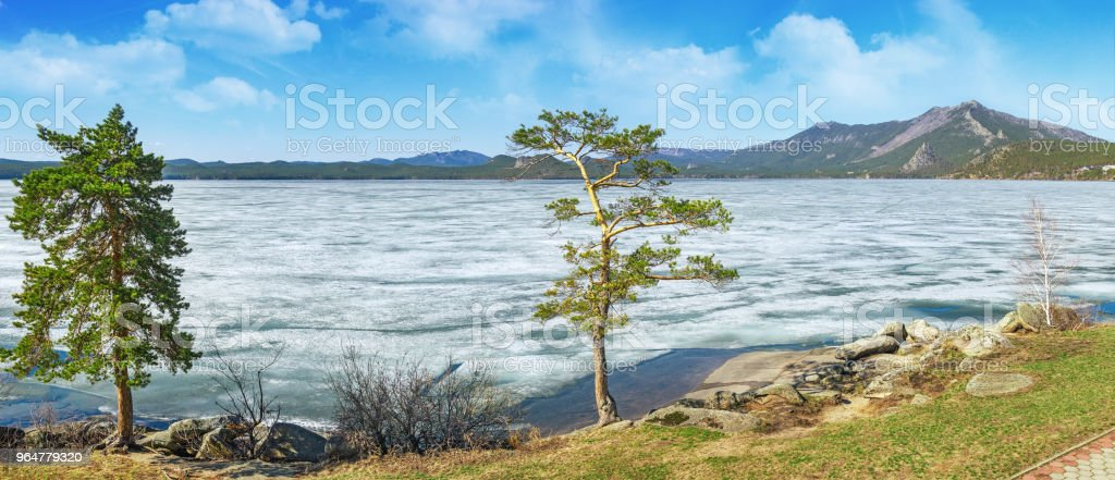 Picturesque landscape in Burabay National Nature Park in Kazakhstan royalty-free stock photo