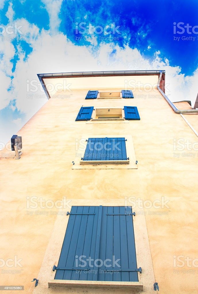 Picturesque little alley in the town of Gap in France stock photo
