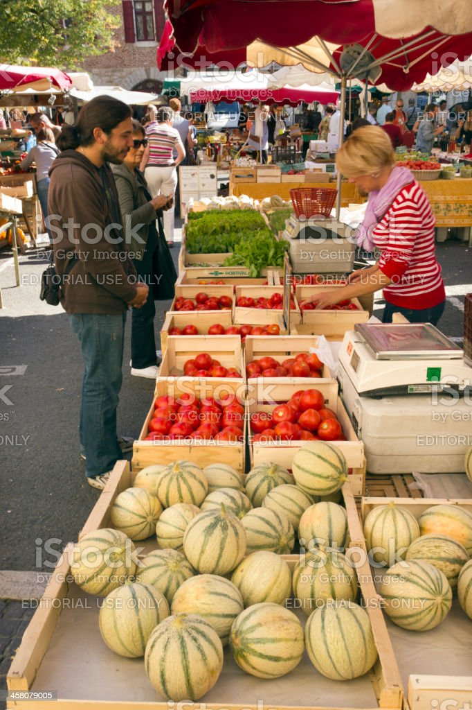 Picturesque Lot Valley - Cahors stock photo
