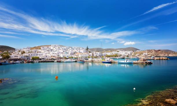 Picturesque Naousa village, Paros island, Cyclades, Greece stock photo