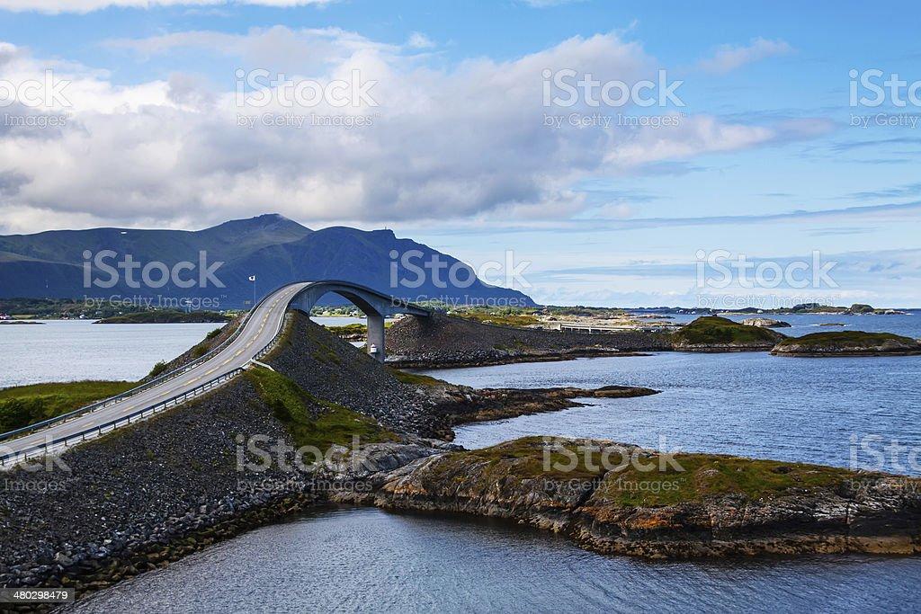 Picturesque Norway landscape. Atlanterhavsvegen stock photo