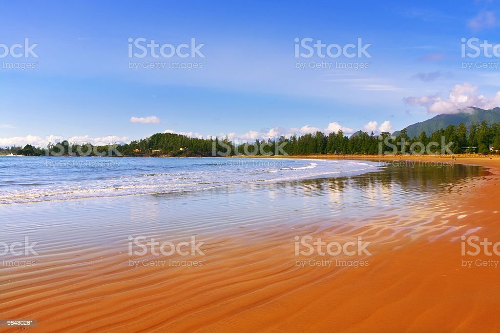 Picturesque ocean beach royalty-free stock photo