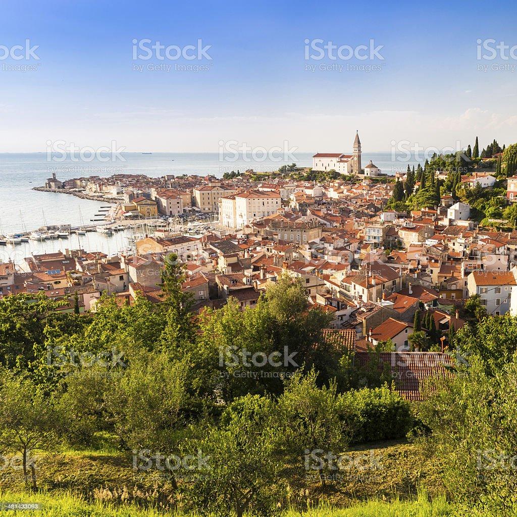 Malerische Altstadt Piran-Slowenien. Lizenzfreies stock-foto