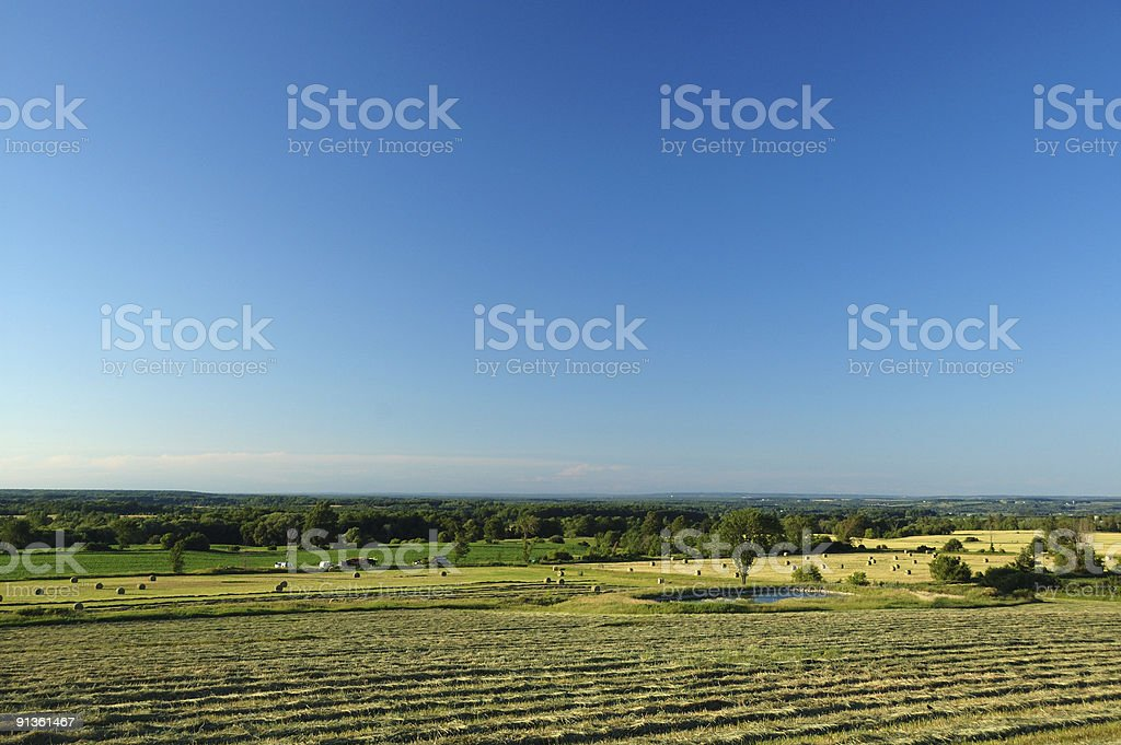 Picturesque Ontario countryside on a summer afternoon stock photo