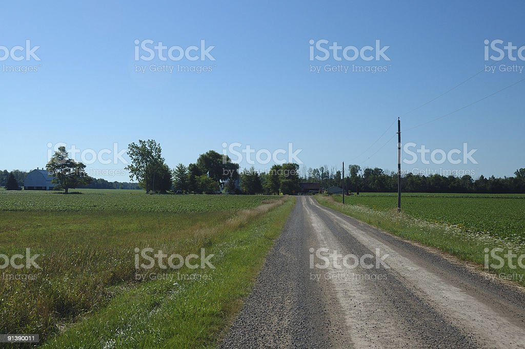 Picturesque Ontario countryside road near London stock photo