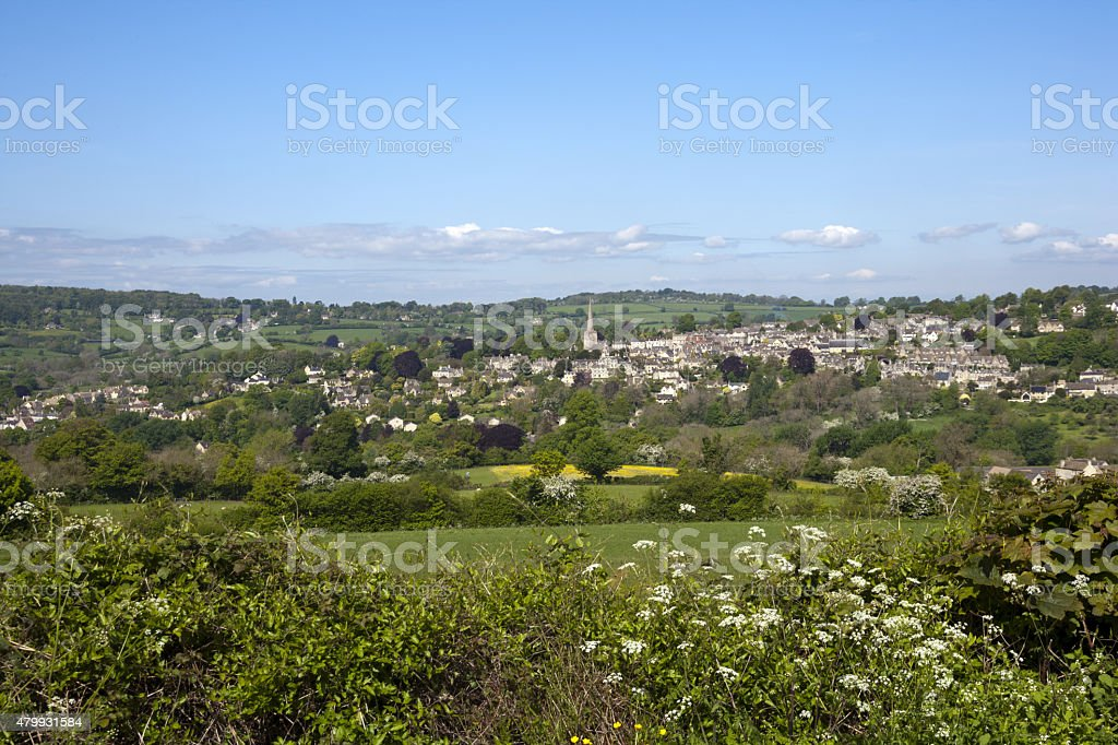 Picturesque Painswick in The Cotswolds, UK stock photo