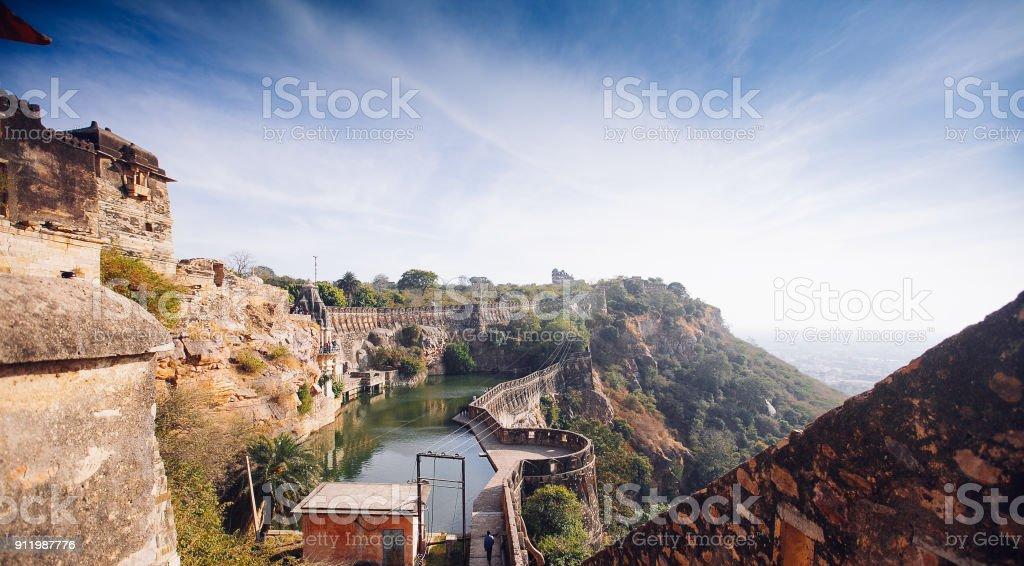 Malerisches Panorama von Cittorgarh Fort, Indien – Foto