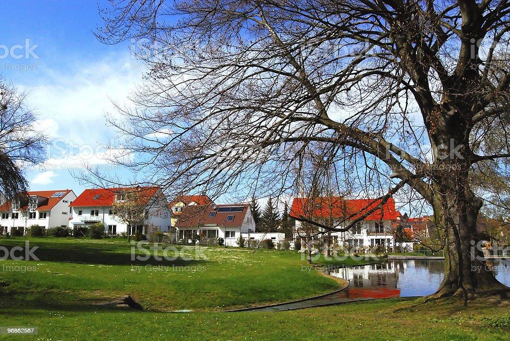 Malerischen park und Wohnviertel Lizenzfreies stock-foto