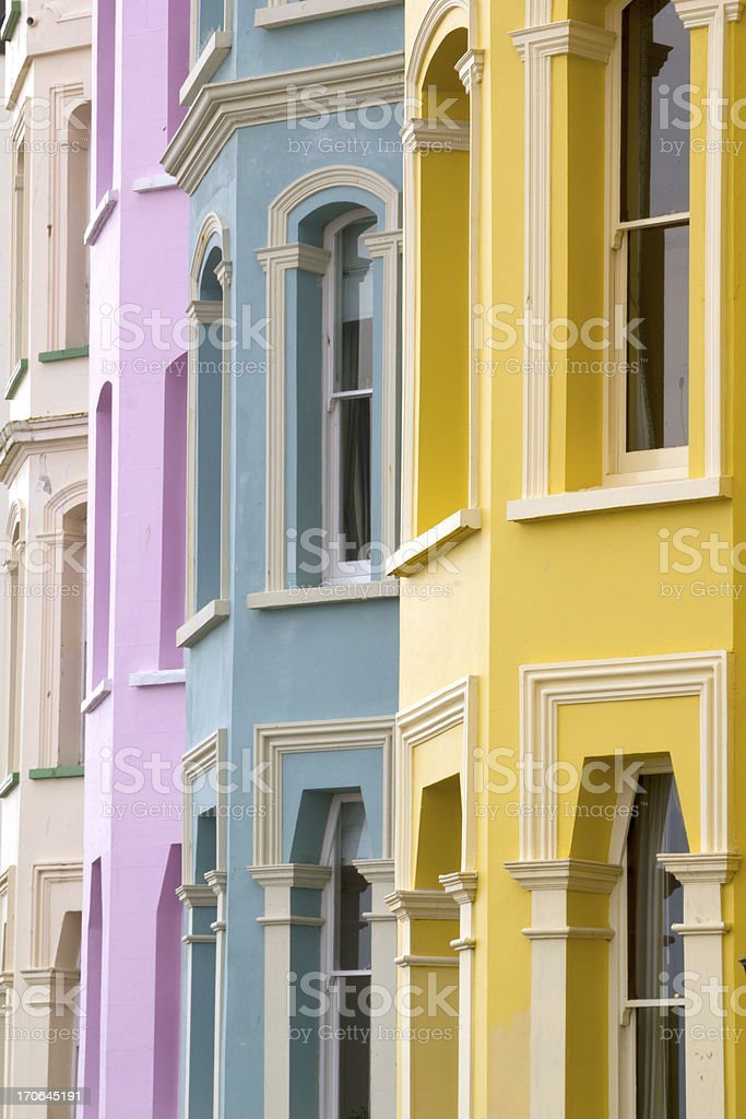 Picturesque Pembrokeshire - Colourful homes stock photo