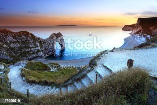 istock Picturesque photo of Durdle Door Sunset 177959519