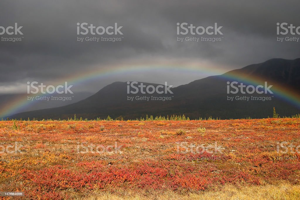 Picturesque rainbow stock photo