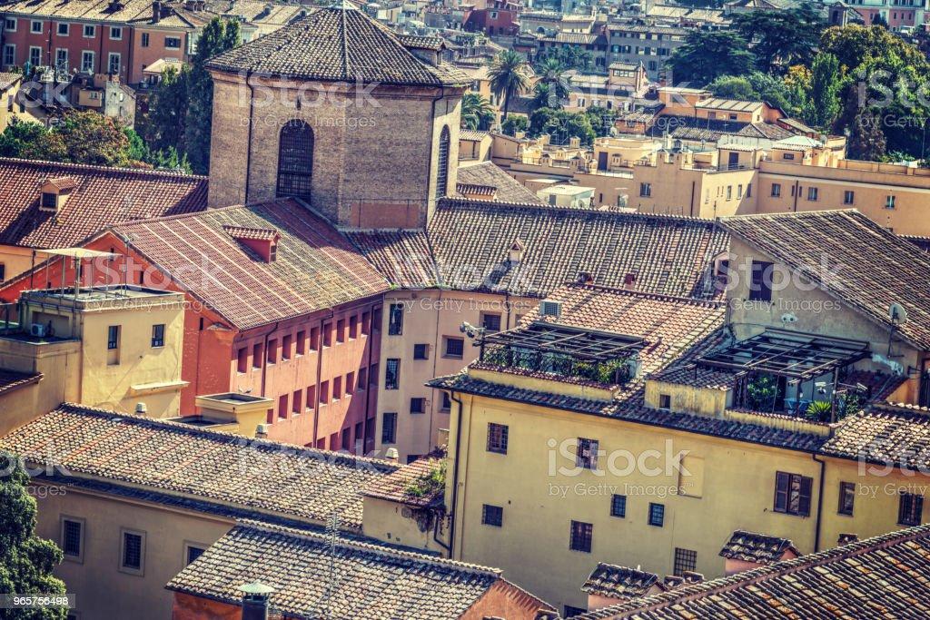 Pittoreske daken in Rome - Royalty-free Antiek - Toestand Stockfoto