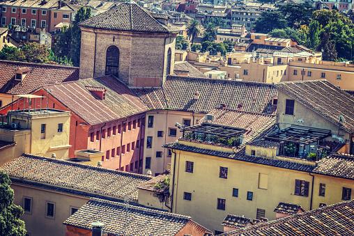 Pittoreske Daken In Rome Stockfoto en meer beelden van Antiek - Toestand