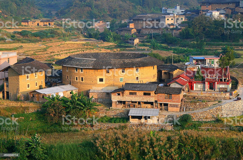 picturesque rural landscape  in eastern China, Fujian province stock photo