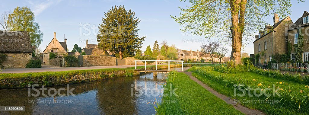 Picturesque rural village summer sky royalty-free stock photo