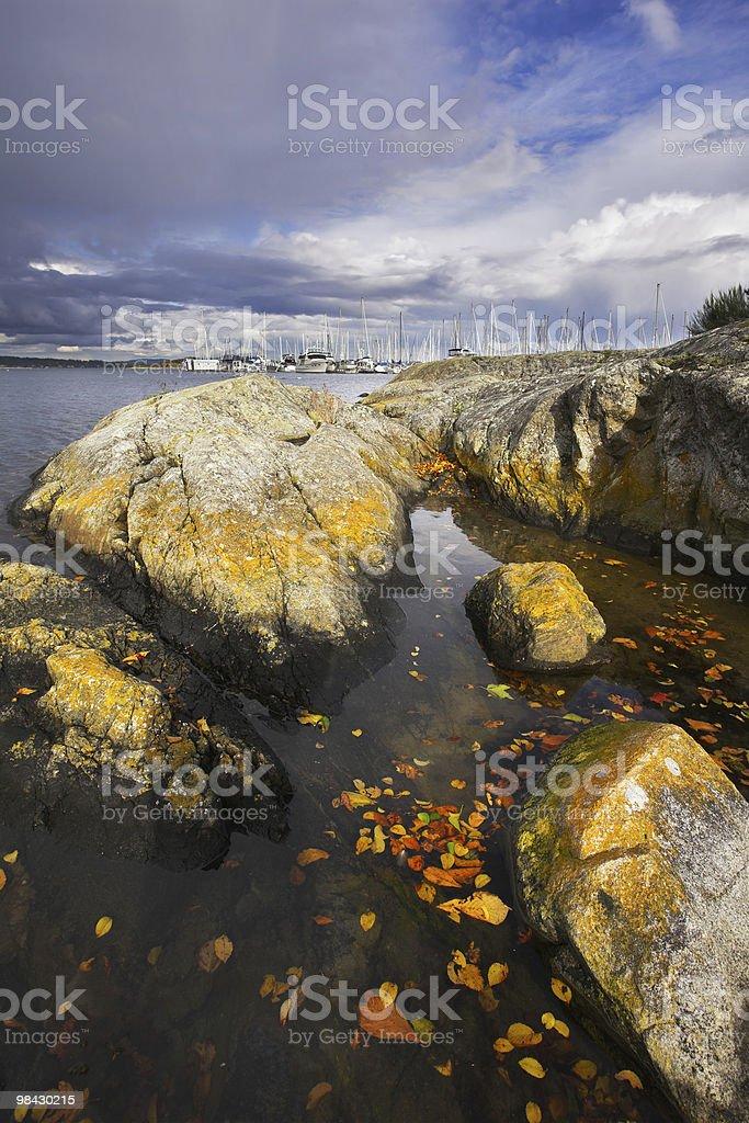 Picturesque  stones on coast royalty-free stock photo