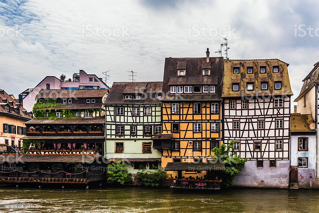 Picturesque Strasbourg, France in Europe stock photo