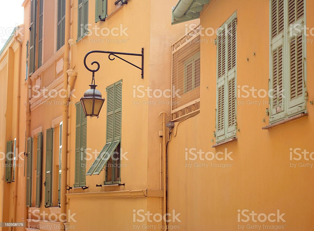 Picturesque street in Provence, France stock photo