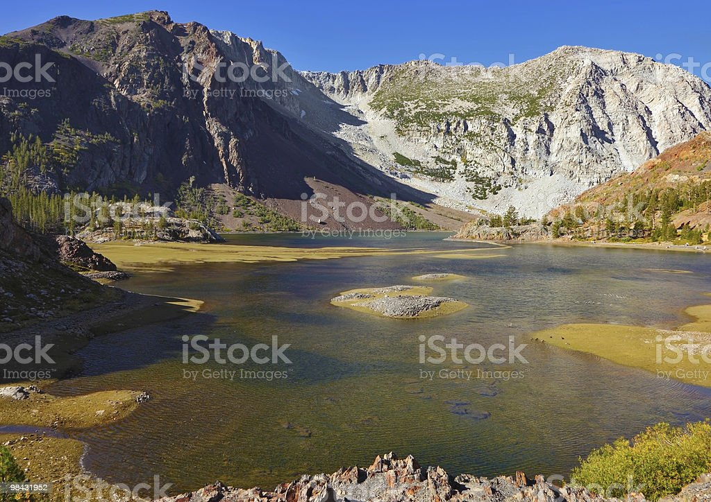 Picturesque superficial lake royalty-free stock photo