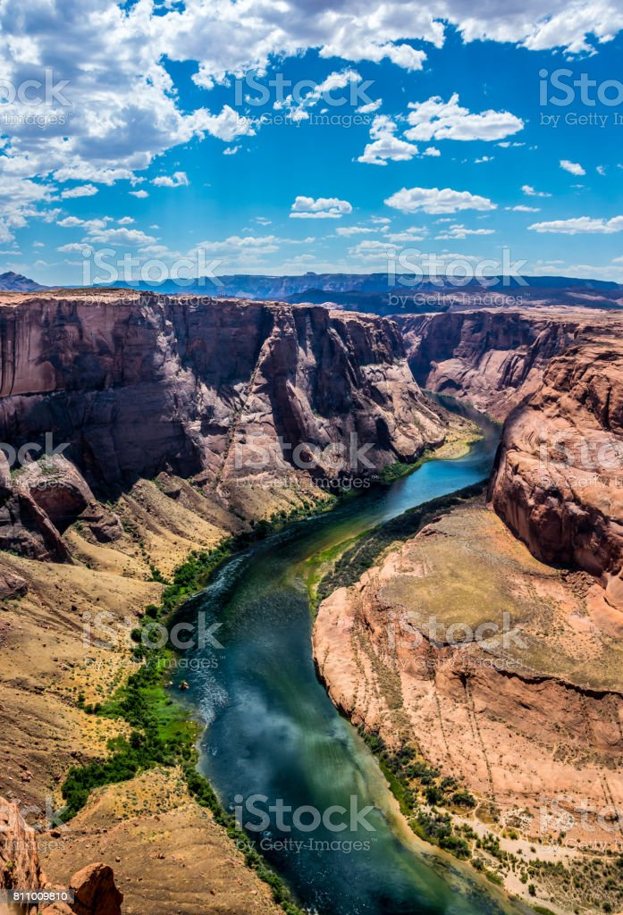 Picturesque surroundings of Page, Arizona. Canyon  Horseshoe Bend stock photo