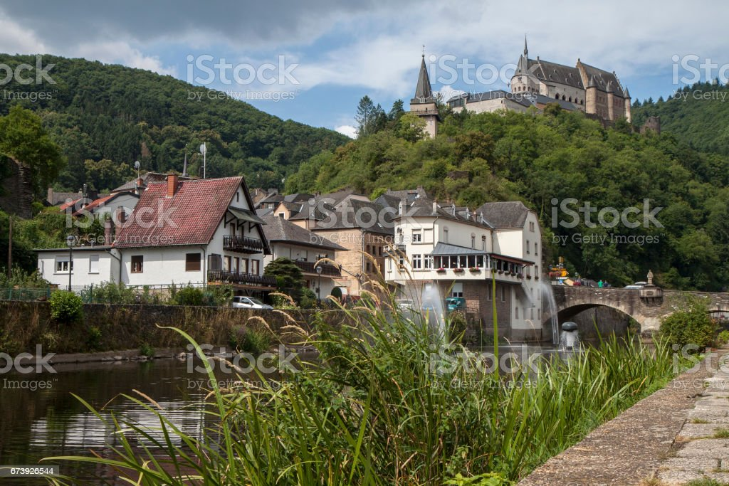 Picturesque Vianden town and medieval castle in Luxembourg, Europe - Photo