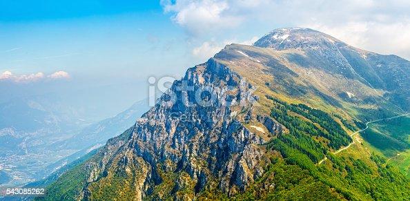 istock Picturesque view from monte baldo mountain to altissimo 543085262