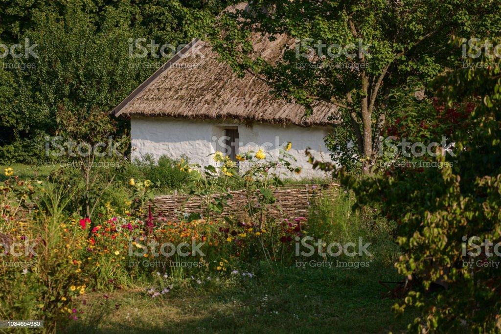 Picturesque view of a Ukrainian village stock photo