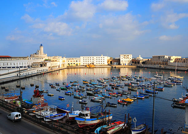 a picturesque view of the admiralty basin in algiers - algeria stock photos and pictures