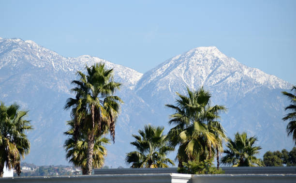 A Picturesque View of the San Gabriel Mountains stock photo