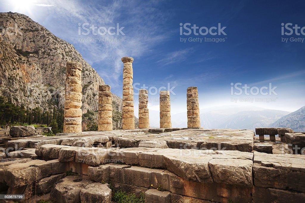 Picturesque view on Apollo temple stock photo