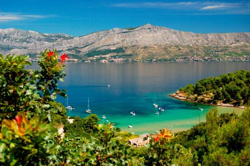 Picturesque View On Lovrecina Beach Brac Island Croatia Stock Photo - Download Image Now