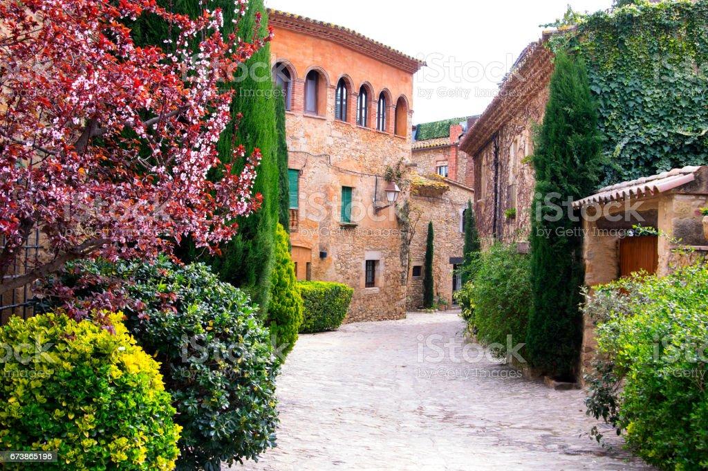 Picturesque village of Peratallada in Catalonia.Spain royalty-free stock photo