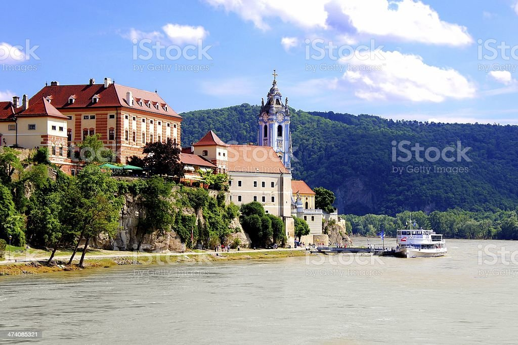 Picturesque Wachau Valley village, Austria stock photo