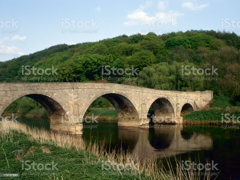 Picturesque Wye Valley stock photo