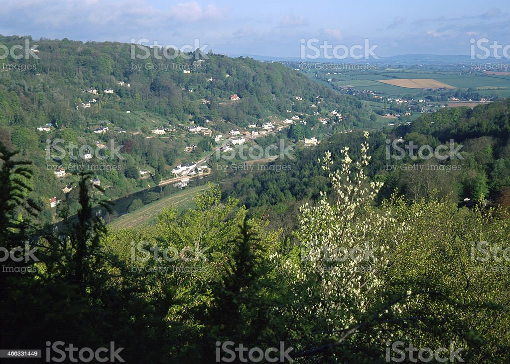 Picturesque Wye Valley - Symonds Yat stock photo