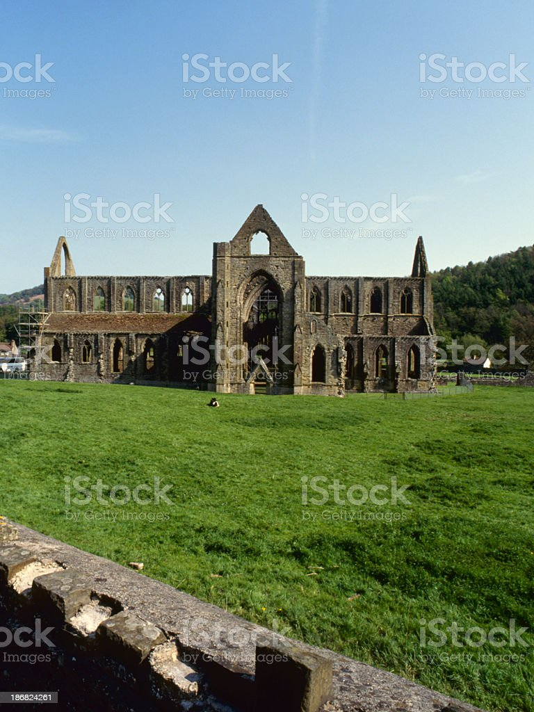 Picturesque Wye Valley - Tintern Abbey stock photo