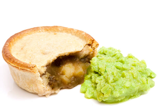 Pie and Peas stock photo