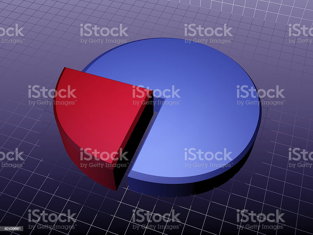 Pie Chart 3D royalty-free stock photo