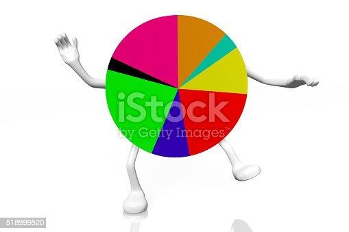 istock 3D pie chart diagram - cartoon 518999520