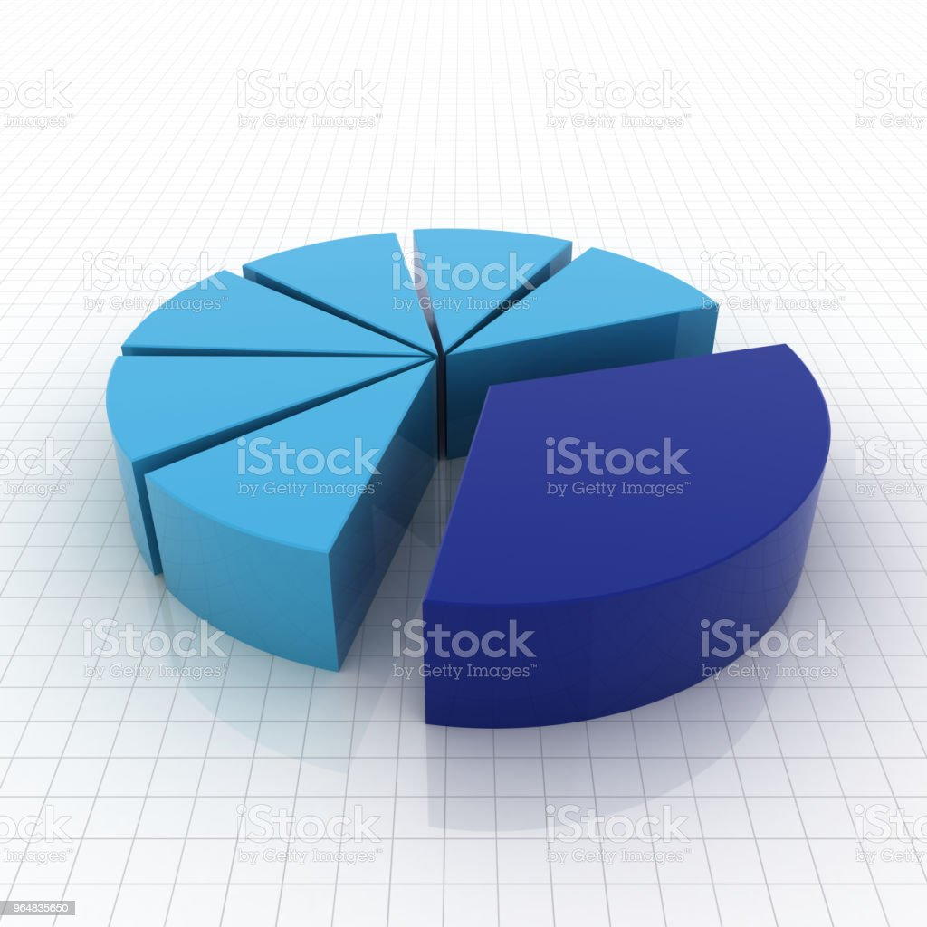 Pie chart diagram graph royalty-free stock photo
