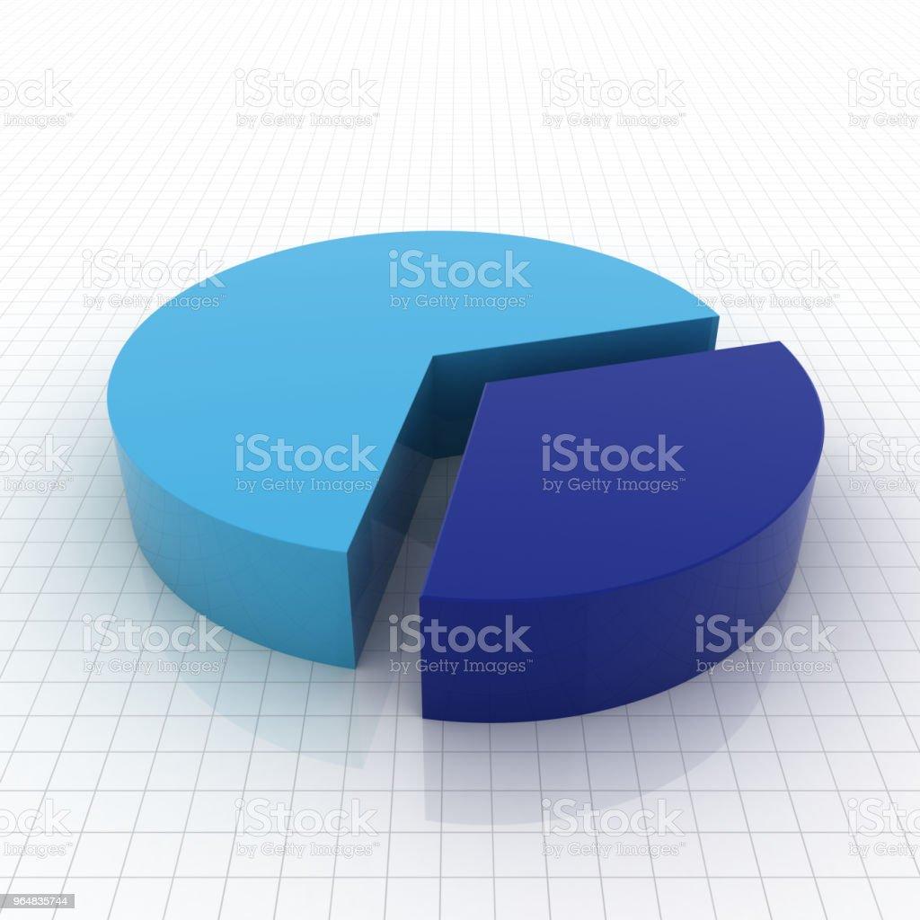 Pie chart diagram graph royalty-free stock photo