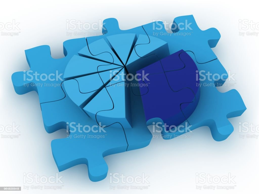 Pie chart diagram graph puzzle royalty-free stock photo
