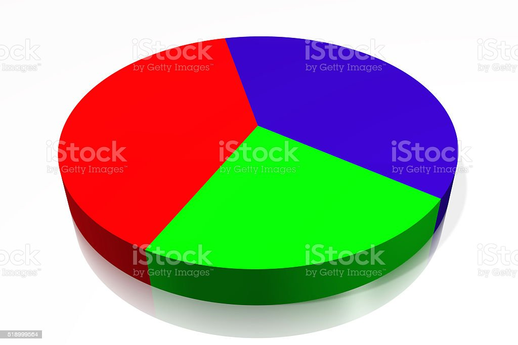 3D pie chart diagram stock photo