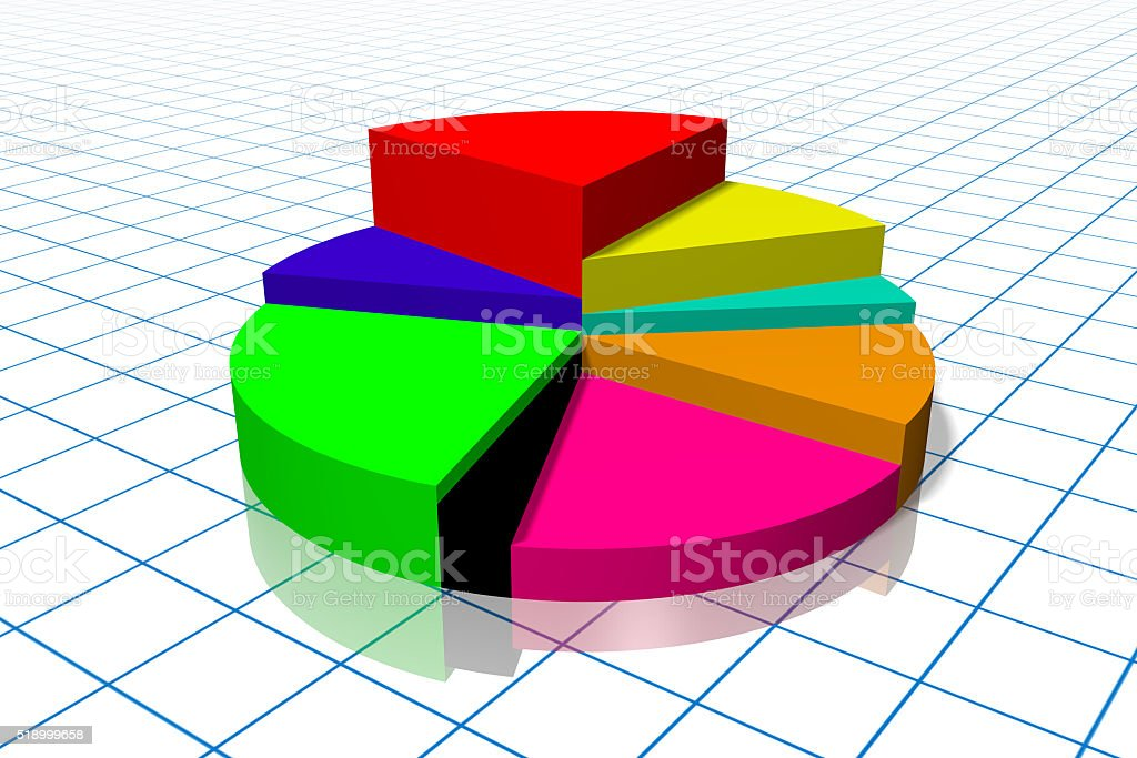 3d Pie Chart Diagram Stock Photo More Pictures Of Abstract Istock