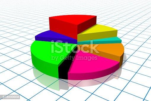 istock 3D pie chart diagram 518999658