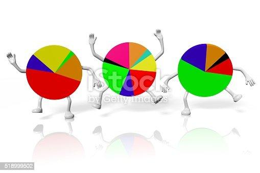 istock 3D pie chart diagrams - cartoons 518999502