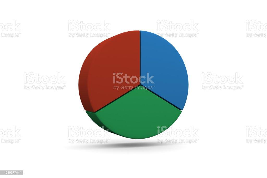 Pie Chart, Graph, 1/3 stock photo